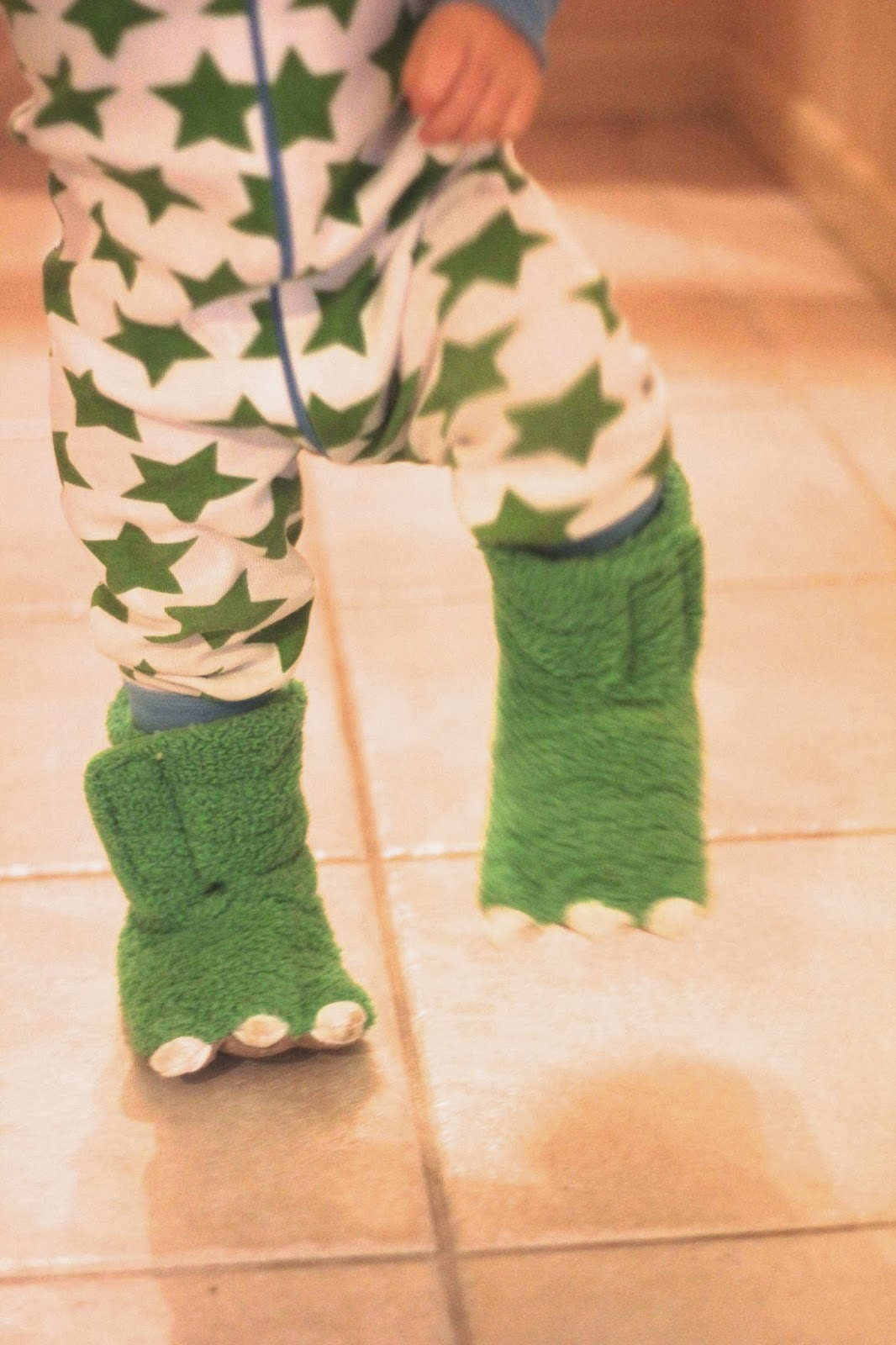 Carters Baby Monster Bedroom Shoes: Tuck Turns One