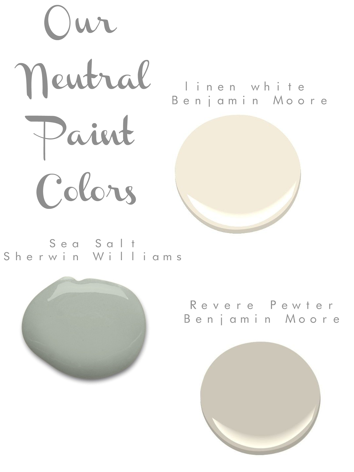 Serene neutral paint colors by benjamin moore and sherwin for Light neutral paint colors