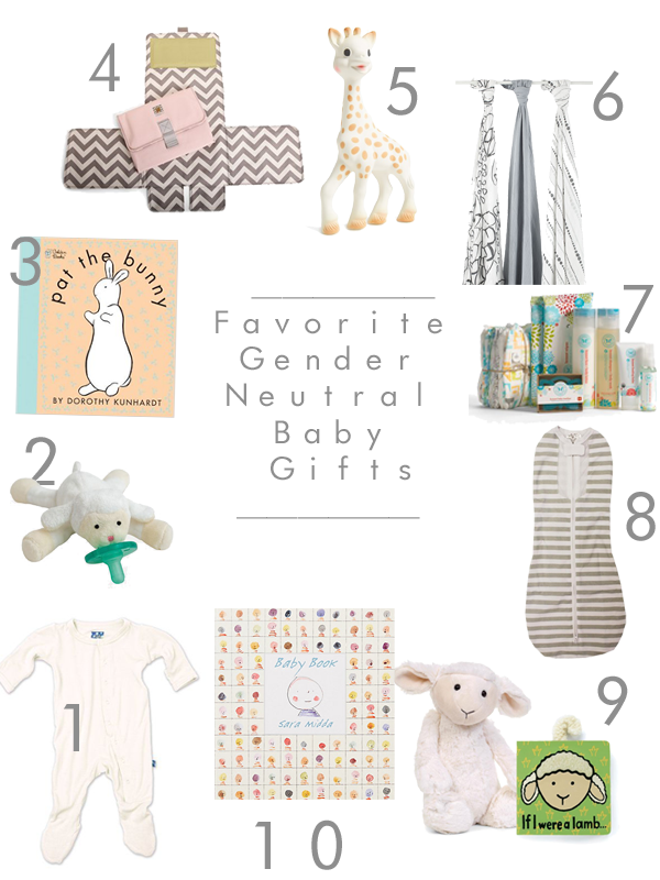 Baby Gifts For Gender Neutral : Sarah tucker favorite gender neutral baby gifts