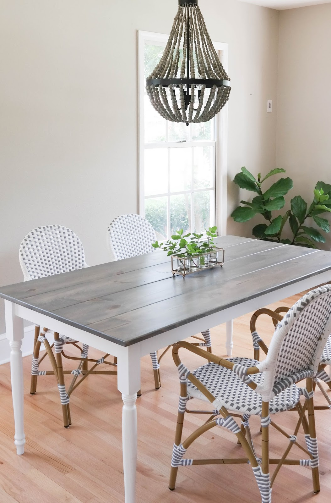 {louis X French Farmhouse Table C/o //chairs // Light Fixture }