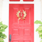 golden laurel red front door