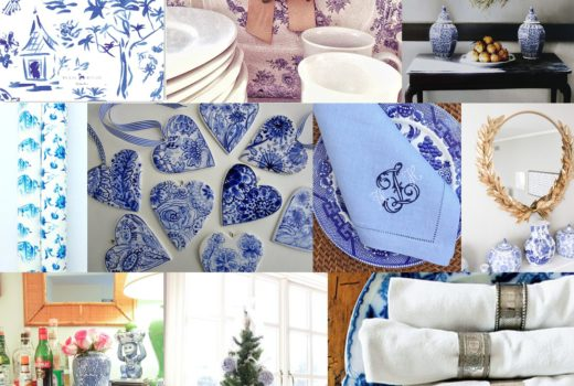 blue and white holiday decor inspiration