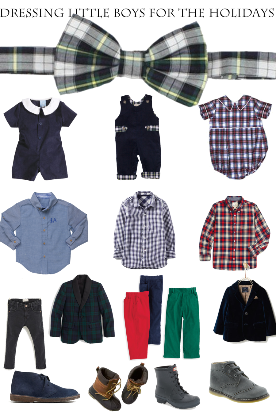 dressing little boys for the holidays