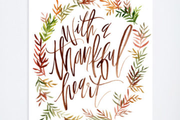 with a thankful heart print