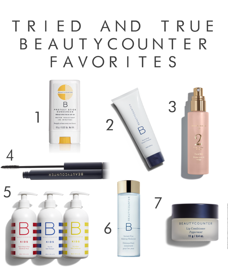 beautycounter tried and true favorites